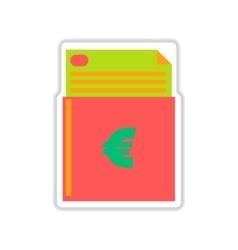 Paper sticker on white background finance vector