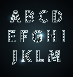 retro glowing font vector image