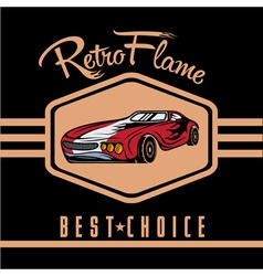 Retro sport car old vintage poster vector