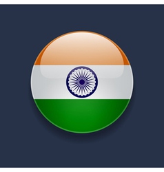 Round icon with flag of India vector image