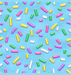 seamless pattern with many decorative sprinkles vector image
