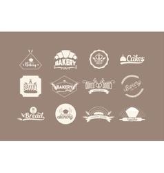 Set of bakery logos vector