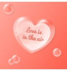 shiny bubble heart with vector image vector image