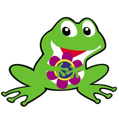 simple childish frog vector image vector image