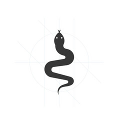 Snake iconsatan symbol vector