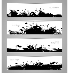Splash designs set vector
