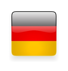 Square icon with flag of Germany vector image vector image