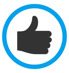 Thumb up flat rounded icon vector