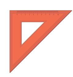 Triangle ruler vector