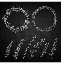 Two wreaths vector image vector image