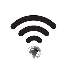 Wifi World Symbol vector image