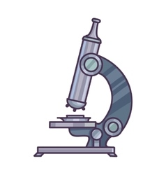 Microscope  science concept vector