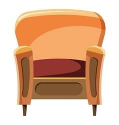 Chair with wood trim icon cartoon style vector