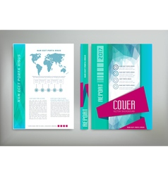Green template cover flyer brochure book report bu vector