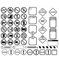 Warning and forbidden signs vector