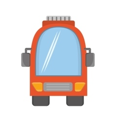 Orange bus vehicule land transport travel vector