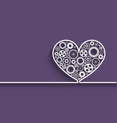 heart with gears vector image