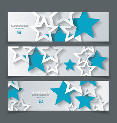 Banners with background from white and blue paper vector