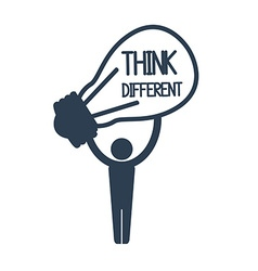 Think different design vector