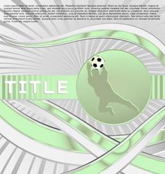 dynamic sport series soccer vector image