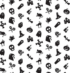 Halloween icons seamless pattern vector