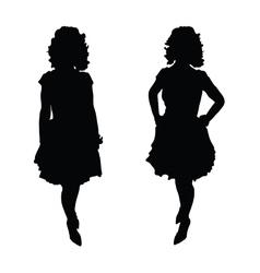 woman pretty silhouette vector image
