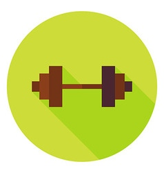 Barbell circle icon vector