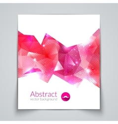 Abstract triangular 3d geometric colorful vector