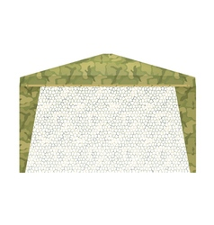 Military tent on a white background vector image