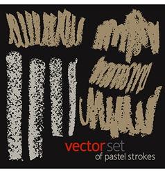 Pastel strokes set 5 vector image