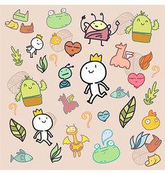 Amazing doodle pattern vector