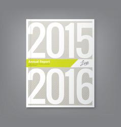 Annual report book cover design vector