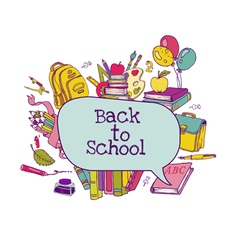 Back to School Set vector image vector image