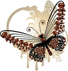 Coffee Butterfly vector image vector image
