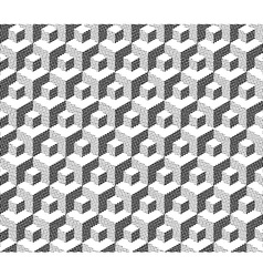 cubical geometric pattern vector image