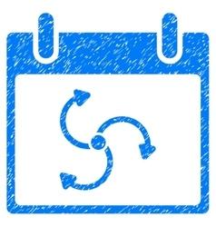 Cyclone calendar day grainy texture icon vector