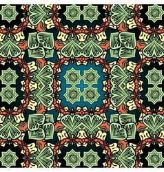 Green carpet asian wallpaper design Tribal vector image vector image