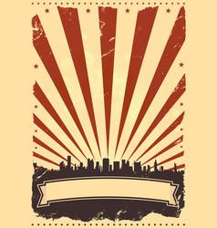 Grunge american leaflet vector
