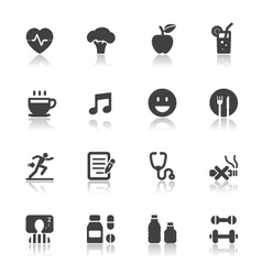 Health and Wellness Icons vector image vector image