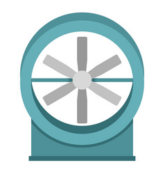Metal electric fan icon isolated vector