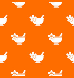Mortar and pestle pharmacy pattern seamless vector