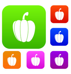 pepper set collection vector image vector image