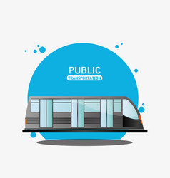 Public transport electric train vector