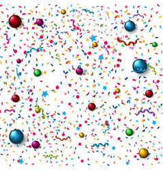 Seamless background with colorful confetti vector