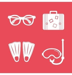 summer vacation travel vector image