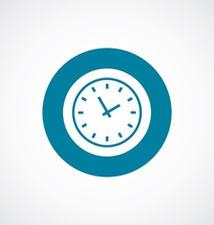Time icon bold blue circle border vector