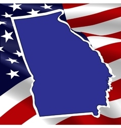 United States Georgia vector image