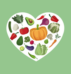 vegetables organic fresh ingredients vector image