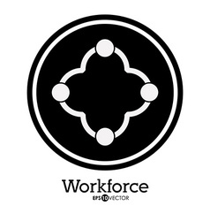 Workforce design vector image