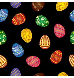Pattern of easter eggs vector